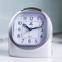POWER Brand Mini Non-ticking Alarm Clock  for Kids and Traveler, Beep Sounds, Snooze, Night Light, 1AA Battery Powered