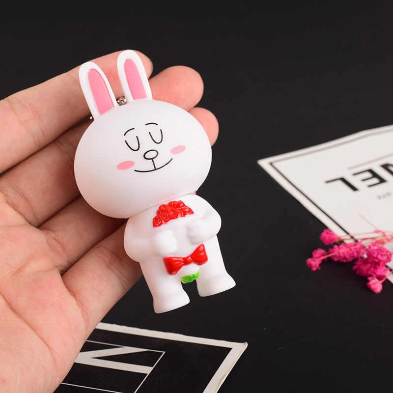 Модный милый плюшевый медведь can ni Кролик Пара брелки брелок для ключей кукла сумки висят мужской и женский южнокорейский Подарочный кошелек ключ