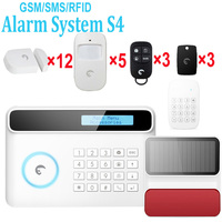 Etiger English, Spanish German and French menu Wireless&wired GSM Home Security Fire Alarm System+ 12 door Sensors+5 PIR Sensors