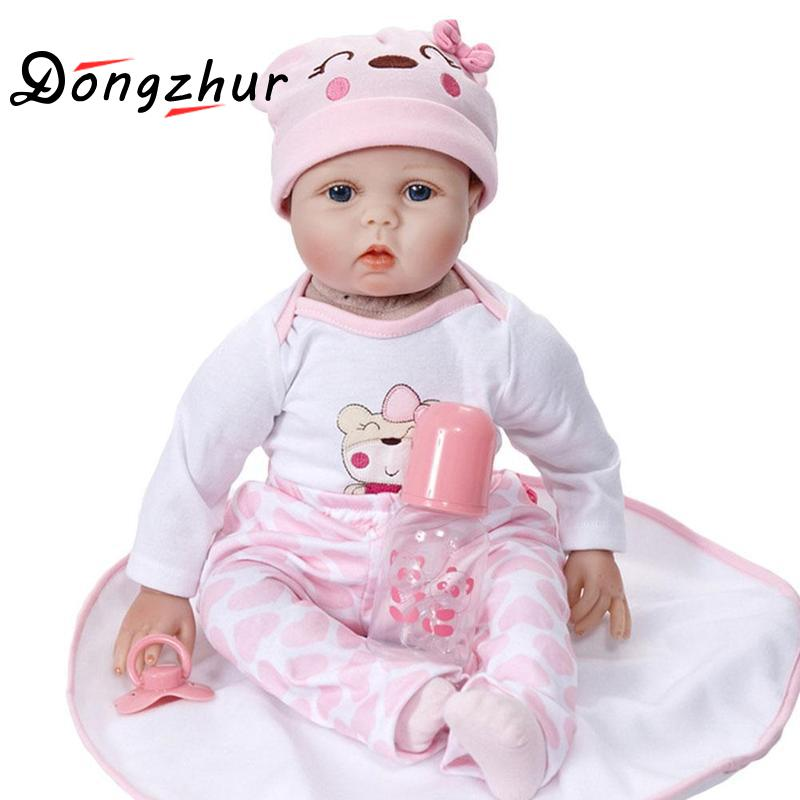 Dongzhur Silicone Reborn Baby Dolls Export Simulation Soft Baby Reborn Doll 55cm Children DIY Dress Up Dolls Early Education Toy children 22 early factory supply new soft vinyl reborn baby dolls silicone toy gift new education boy baby doll 55cm