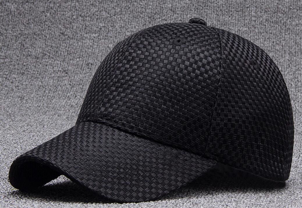 6pcs Fashion Men Black Weave Baseball Hats for Spring Summer Women ... 9d455406786