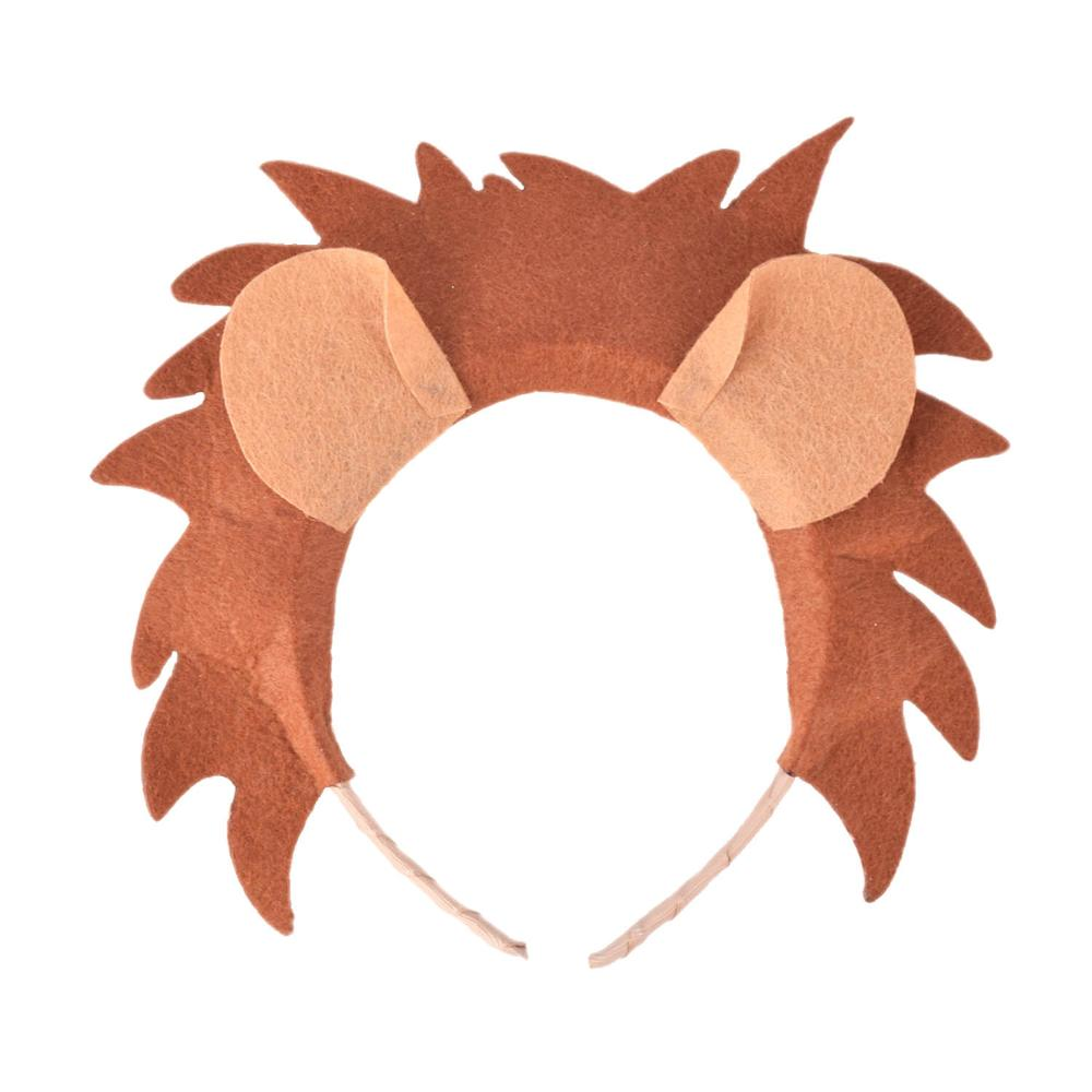 Lion Costume Headband For Kids Baby Birthday Party Hair Accessories Boys Lion Halloween Costume Headbands Hard Plastic Headwear