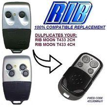 RIB SUN T433-2CH,RIB T433-4CH,RIB MOON T433-2CH 433-1,RIB 433-2,RIB 433-3 remote duplicator fixed code