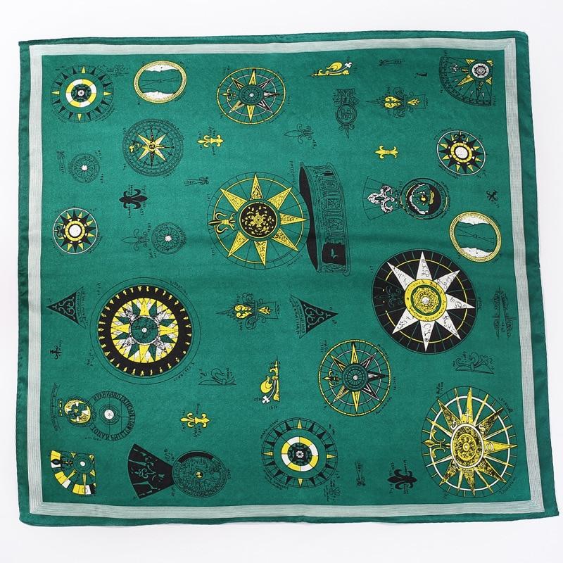 Women's 2019 Four Seasons Explosion Models Hot Tarot Pattern Printing 52*52cm Tied Silk Decorative Square Scarf