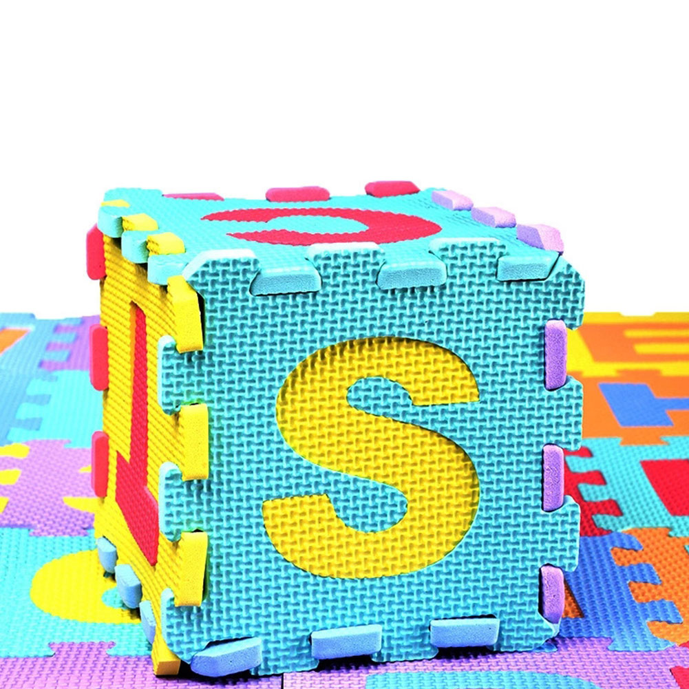 36 Pcs Childrens Puzzle Mat Digital Letter Educational Foam Cushion Cold-proof Environmentally Friendly Baby Crawling Mat Mother & Kids Activity & Gear