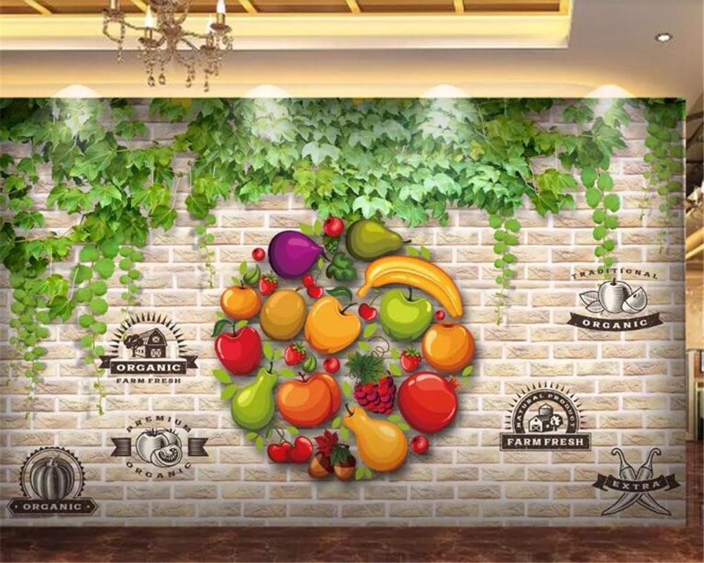 Beibehang Kitchen Wallpaper 3d Wall Murals Custom 3d Wallpaper Wall Fruit Shop Supermarket Tooling Wall Wall Papers Home Decor Wallpapers Aliexpress