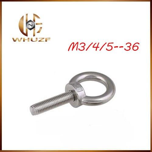 eye bolt M3/4/5/6/8/10/12/14/16-36 304 Stainless Steel Lifting Eye Bolt Round Ring Hook Bolt eye bolt m3 4 5 6 8 10 12 14 16 36 304 stainless steel lifting eye bolt round ring hook bolt