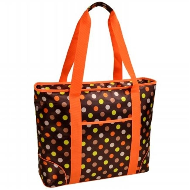 Picnic at Ascot 421-JD Large Cooler Tote -Julia Dot paddington at large