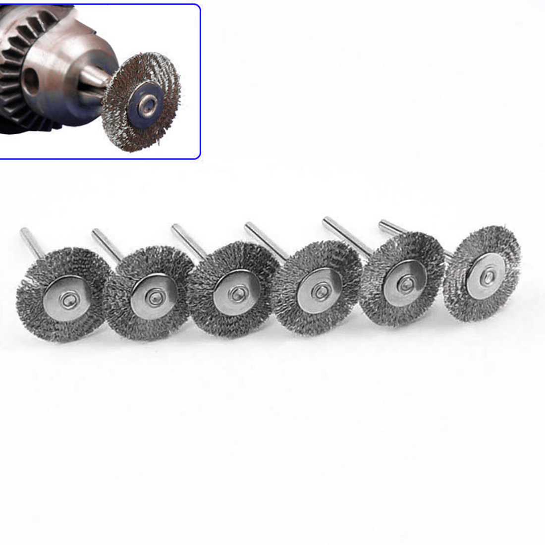 22mm Steel Rotary Brush 10Pcs Dremel Wire Wheel Brushes For Grinder Rotary Tool For Mini Drill Polishing  Dremel Accessories
