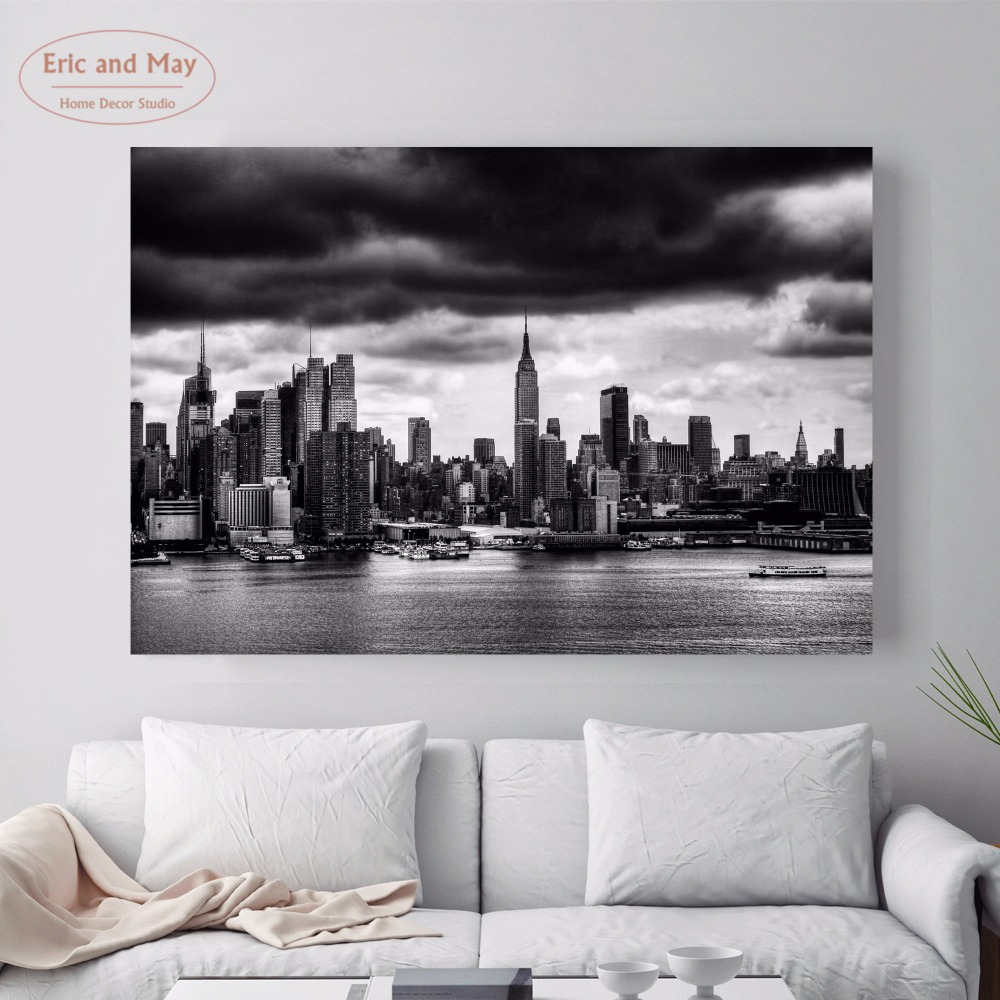 Home Decor Stores New York: Aliexpress.com : Buy New York Black And White Landscape