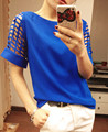 2015 Fashion batwing sleeve shirt Ladies Blouses Summer Women's Chiffon Shirts Tops Plus Size Clothing XL XXL XXXL