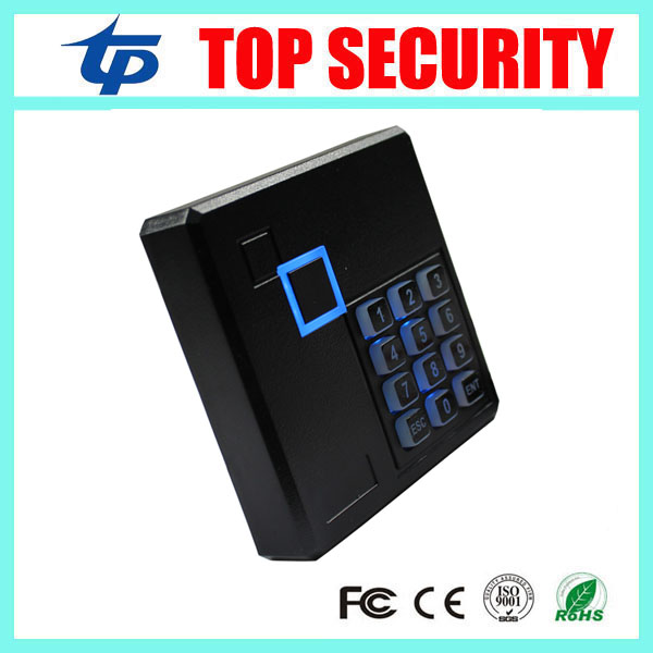 MF card IC proximity card reader with keypad IP65 waterproof smart card reader with weigand26/34 access control card reader waterproof ip65 13 56mhz ic card