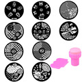 10pcs DIY Nail Art Polish Templates Flower Pattern Design Steel Plate Nail Art Image + Nail Stamp Stamping Plate Nail Tools