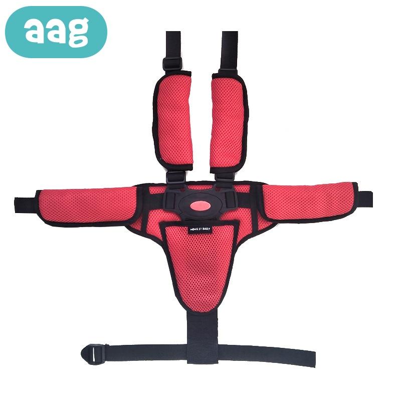 Três-ponto/Five-ponto Baby Cinto de segurança de Ombro Macio Encosto de Cabeça Do Carro Cadeira Cinto de Segurança Cinto Fixo Bebê acessórios de carrinho