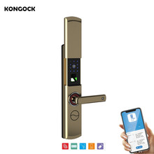 WIFI smart APP remote control  door lock, fingerprint password IC card and key uv ink printed barcode card and plastic member key card 3 part supply