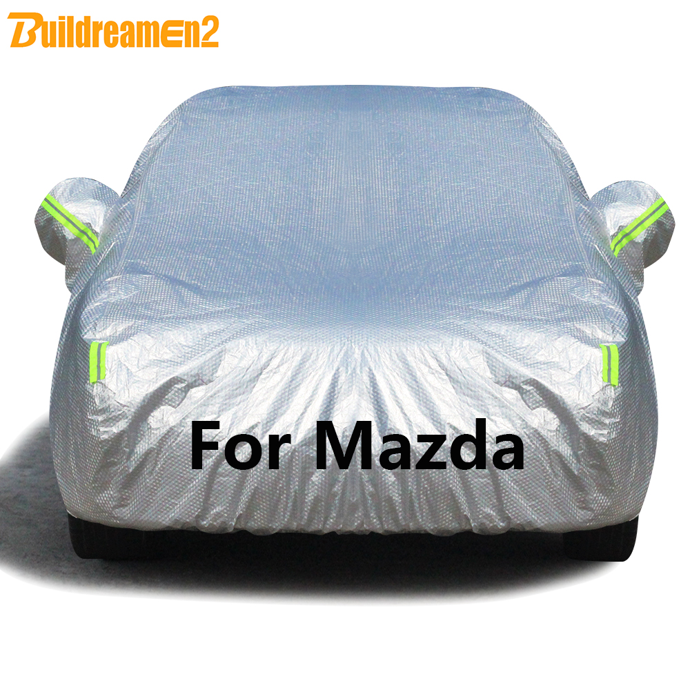 Buildremen2 Full Car Cover Waterproof Sun Hail Rain Snow Protection Cover For Mazda 2 3 5