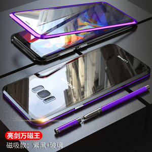 Image 2 - For Samsung Galaxy S10 5G S10 Plus S10e Case 360 Degree Full Magnetic Cover Front Back Glass Case For Galaxy S9 Plus Magnet Case