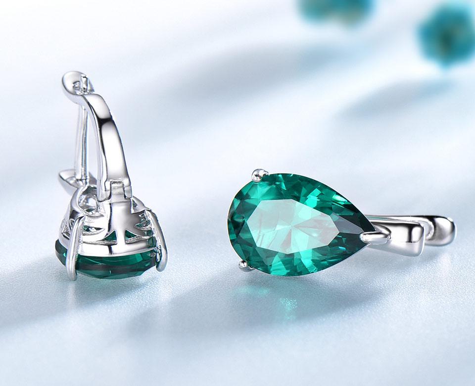 UMCHO-Emerald-925-sterling-silver-clip-earrings-for-women-EUJ086E-1-PC_05