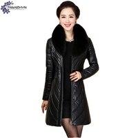 TNLNZHYN Women Clothing High End Warm Fake Leather Jacket Coat Winter New Fashion Large Size Female
