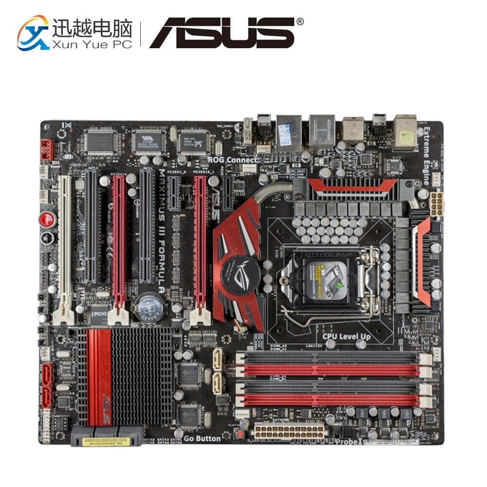 Asus Maximus III Formula Desktop Motherboard M3F P55 Socket LGA 1156 i3 i5 i7 DDR3 16G ATX for asus maximus iii gene original used desktop motherboard m3g for intel p55 socket lga 1156 for i3 i5 i7 ddr3 16g uatx