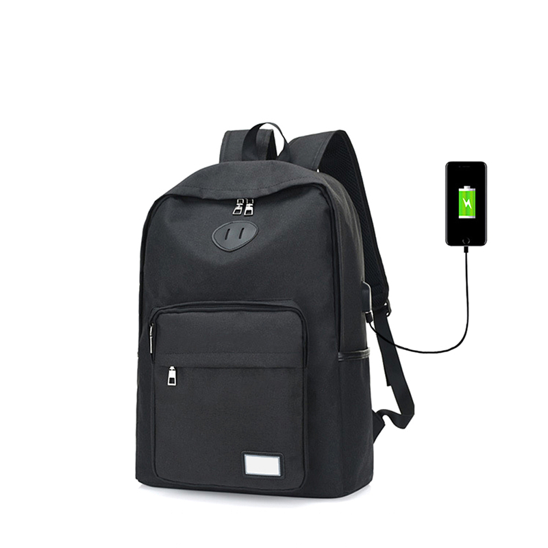 USB Charging Student Canvas Backpack For Leisure Or Traveling 15.6 Inch Business Laptop Bag Breathable Wearable Men Women Case ...
