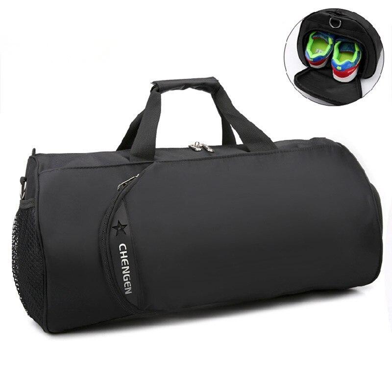 2018 New Professional Gym Bag Fitness Training Sports Bag Portable Shoulder Travel Bag Independent Shoes Storage Sac De Sport