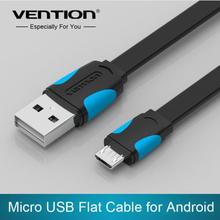 Vention Mobile Phone Cable Flat Micro USB Cable 0.25m/0.5m/1m/1.5m/2m Data Sync Charger Cable for Android HTC Samsung SONY