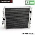 TANSKY-Alto desempenho JDM 3 Linha Radiador De Alumínio de Corrida Para Honda Civic EK EG DEl Sol Manual de 52 MM TK-ARCIVIC52