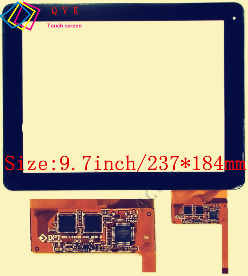 Black 9.7 Inch For MEDIACOM SMARTPAD M-MP932I / TeXet TM-9740 Touch Screen Free