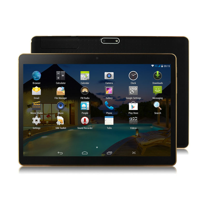 10 Inch 3G Android Phablet Tablets PC Tab Pad 10″ IPS 1280×800 MTK Quad Core 2GB RAM 32GB ROM Dual SIM Card WIFI Bluetooth GPS