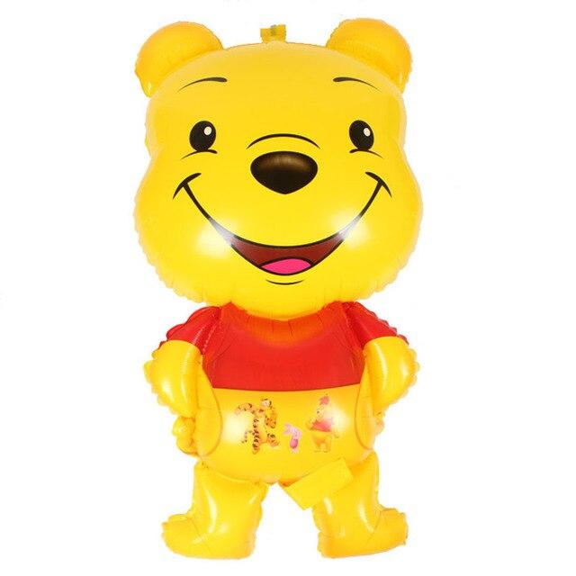 1pcs 3d Winnie Pooh Foil Balloons Cartoon Bear Aluminum Globos Baby