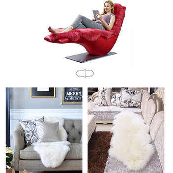 Soft Artificial Sheepskin Rug Chair Cover 4 Chair And Sofa Covers