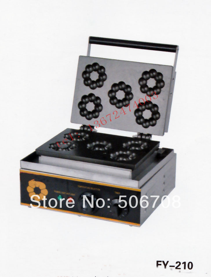 цены free shipping~ 110V/220V 5 pcs  plum blossom Sweet donuts  making machine