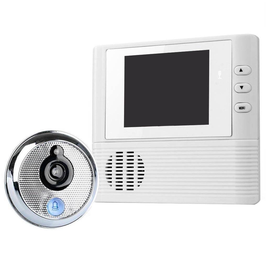 2.8 LCD Digital Peephole Viewer Door Eye Doorbell Video Color IR Camera 806 3 inch lcd hd color screen doorbell viewer door peephole 1 million pixels camera door eye video recorder hidden cat s eye head