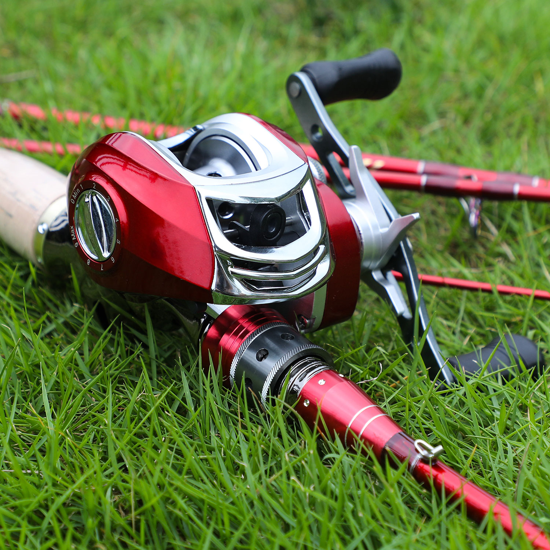 Sougayilang Baitcsting Rod Kit complet 4 Section M puissance en Fiber de carbone moulage bobine ensemble 100M ligne de pêche leurres crochets Combo Pesca - 6