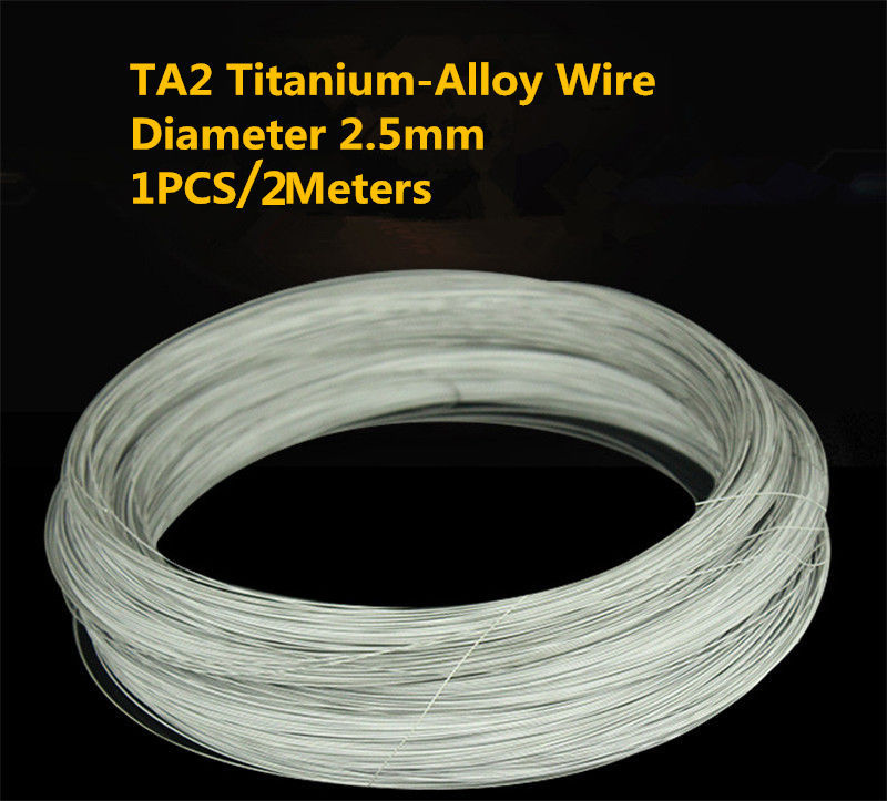 1PCS/2Meters TW006 Titanium-Alloy Wire 2Meter Diameter 2.5mm TA2 Titanium Wire Sell at a Loss Titanium Cable DIY wire