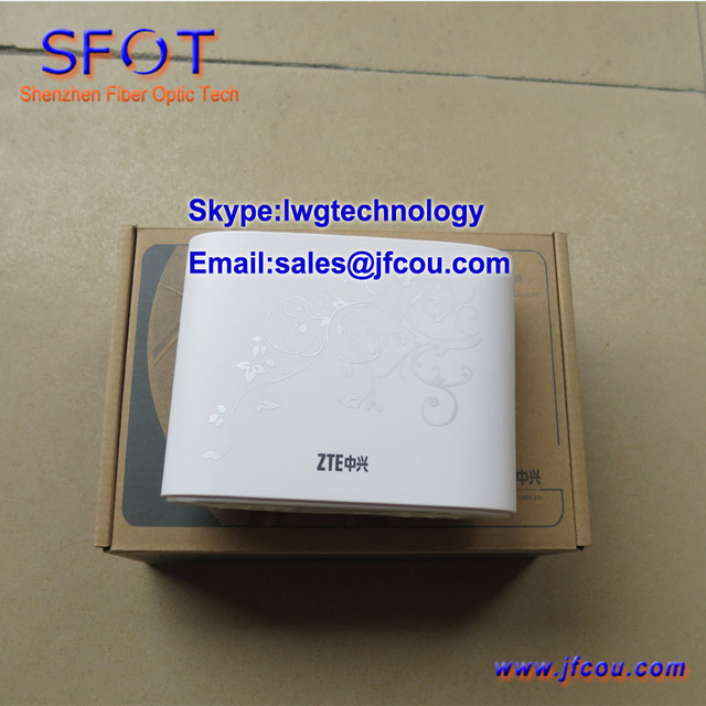 Original zte zxa10 f411 epon onu uma voz e uma porta ethernet terminal de rede óptica ftth