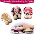 3D mousepad Cosplay Creative sexy Hips Ass Game with Wrist Rest Soft Silicon Sexy Mouse Pad 1pcs