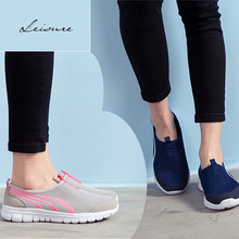 Light Sport shoes Men Women training hiking walking Sneakers lifestyle Slip-on shoes Mesh breathable soft woman neat trainers
