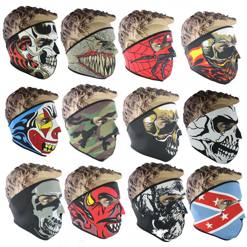 1PCS Skull Face Mouth-Muffle Mask Warm Windproof Motorcycle Bike Cycling Winter Snowboard Ski Face Mask Veil Outdoor Sport Mask