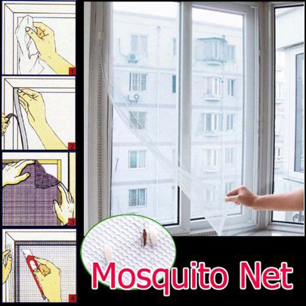 DIY Window Screen Net Mesh Curtain Summer Anti-Mosquito Cortinas Flying Wasp Window Screen Insert Cover Netting Kit Protector