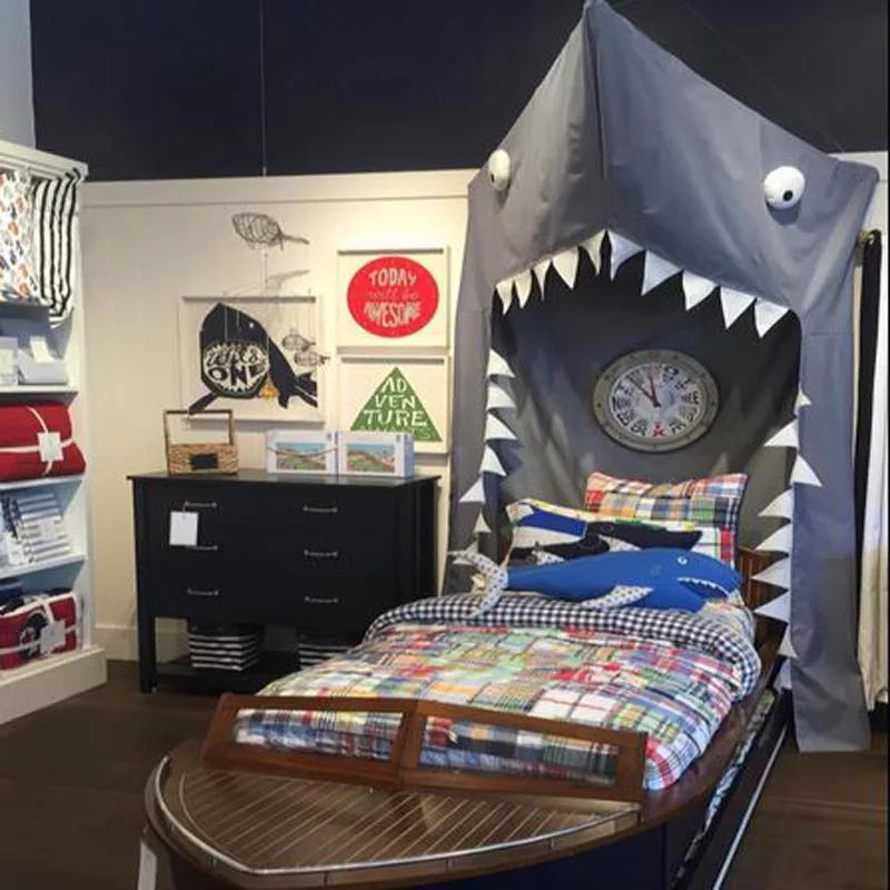 Cartoon Shark Mantle Shape Bed mantle Tent Hanging Door Mosquito Net Home Decorations Mosquito Net Kids Adults Personalized Gift
