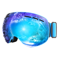 Magnet Ski Goggles Jiepolly Brand Anti Fog Spherical Big Skiing Mask Face Glasses Snowboard Skating Goggles