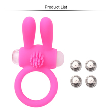 Penis Ring Vibrator Delay Ejaculation Rabbit Adult Products