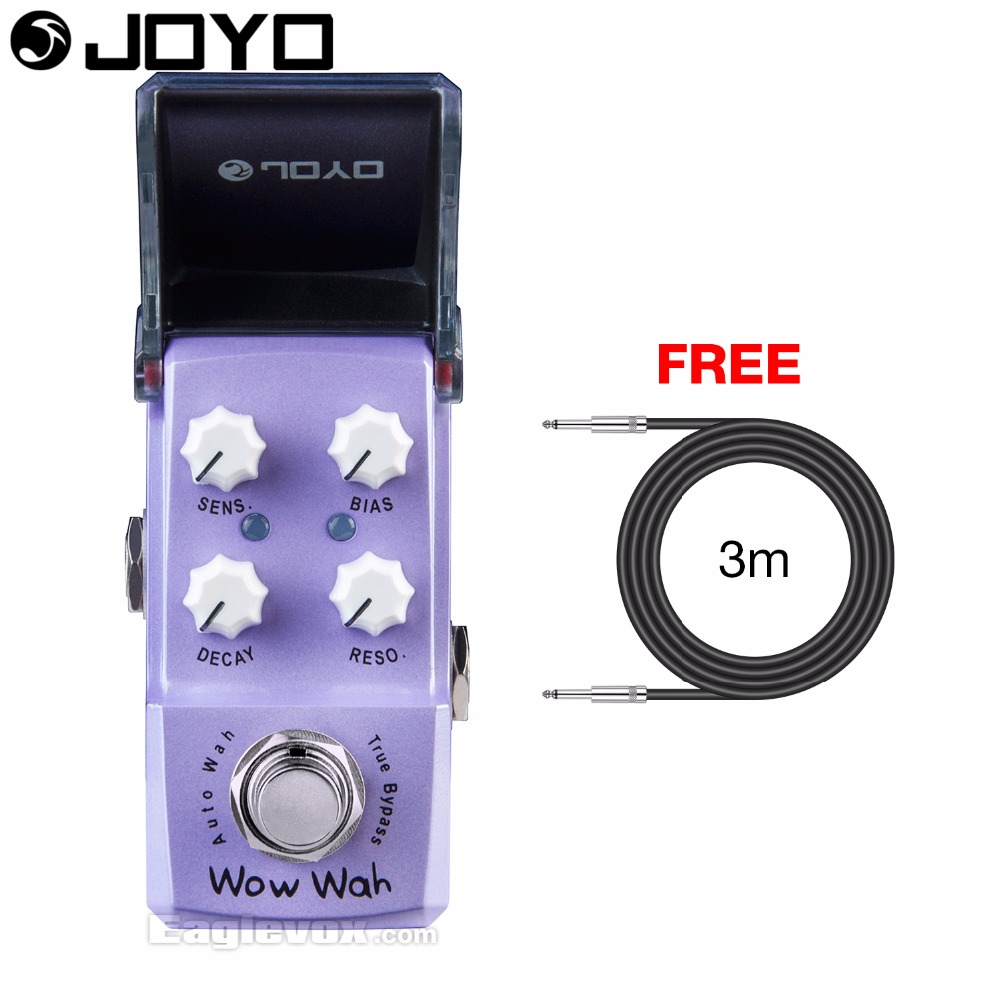 Joyo Ironman JF-322 Wow Wah Autowah Guitar Effect Pedal True Bypass with Free 3m Cable mooer ensemble queen bass chorus effect pedal mini guitar effects true bypass with free connector and footswitch topper