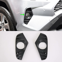 Car Accessories Exterior Decoration ABS Front Fog Lamp Light Cover Trims For Toyota RAV4 2019 Hybrid Car-styling bjmycyy car styling car front reading lamp decoration frame for toyota rav4 2014 auto accessories