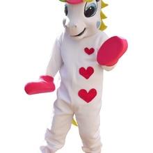 Единорог талисман костюм и собака талисман костюм радуга Пони маскарадный костюм для взрослых Хэллоуин Пурим Вечерние
