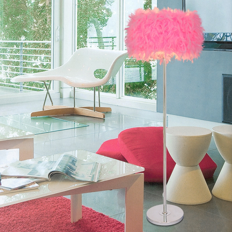 NEW Multi-color can be selected Bedroom living room feather floor lamp feather light modern lamp floor lights