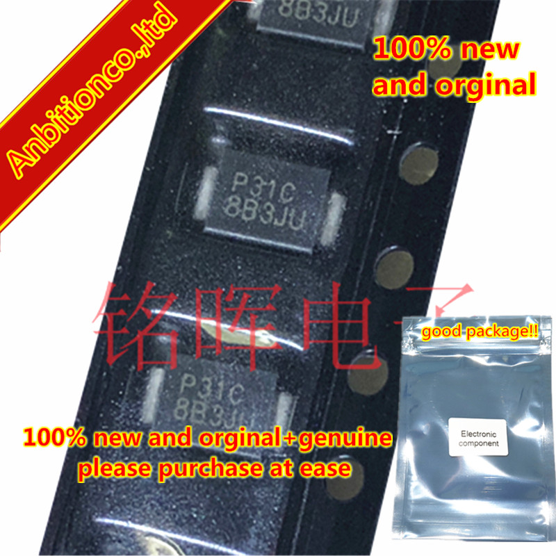10-20pcs 100% New And Orginal P3100SCLRP Silk-screen P31C SMB DO214AA Low Voltage Overshoot, Low On-state Voltage, Low  In Stock