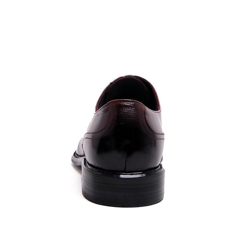 Plana Couro Red Italiano Vestir De Boda Sapatos Rojo Mycolen Black wine Zapatos Hebilla Negocios Hombre Con Cuero Genuino Negro Homens HA4ZPxwq